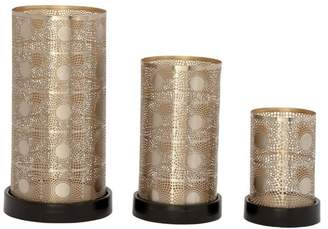Benzara Jane Metal Candleholders, 3-Piece Set