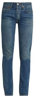 Re/done Originals - High Rise Straight Skinny Leg Jeans - Womens - Denim