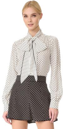 Marc Jacobs Tie Neck Blouse $395 thestylecure.com