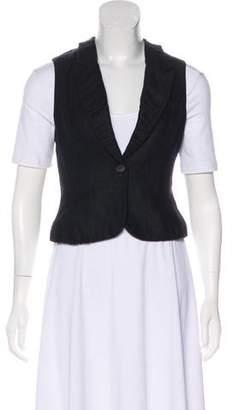 AllSaints Wool Peak-Lapel Vest