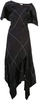 Monse patchwork midi dress