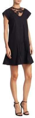 No.21 NO. 21 Cotton Lace Crewneck Dress