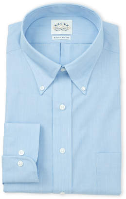 Eagle Blue Crystal Stripe Regular Fit Dress Shirt