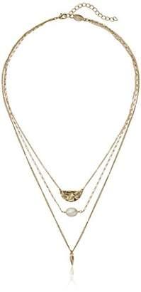 A.V. Max a. v. max Three Row Strand Necklace