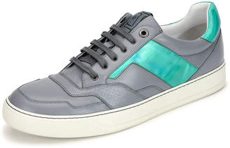 Lanvin Men's Holographic Leather Low-Top Sneaker