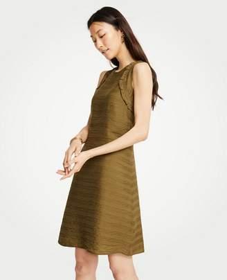 Ann Taylor Petite Crochet Trim Shift Dress