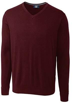 Cutter & Buck Men's Cotton-Rich Classic Lakemont Anti-Pilling V-Neck Sweater