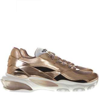 Valentino Gold Leather Sneaker Bounce