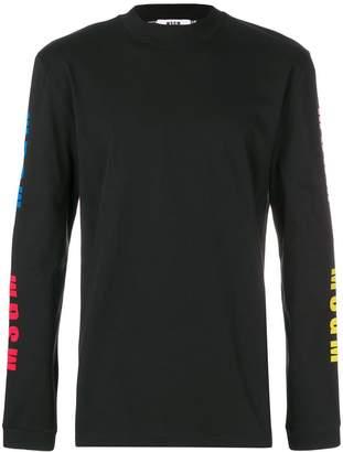 MSGM logo sleeve sweatshirt