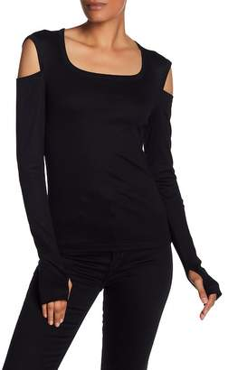 Helmut Lang Square Neck Long Sleeve Tee