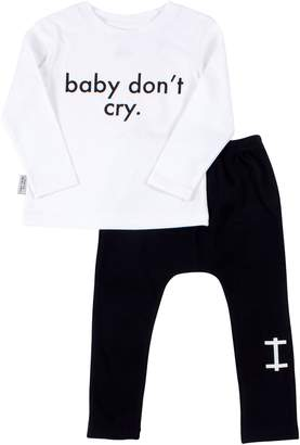 TINY TRIBE Baby Don't Cry Tee & Leggings Set