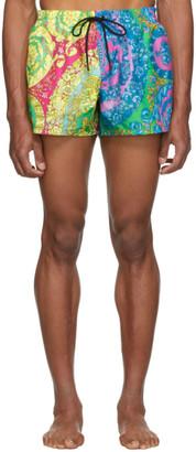 Versace Underwear Mutlicolor Barocco Swim Shorts