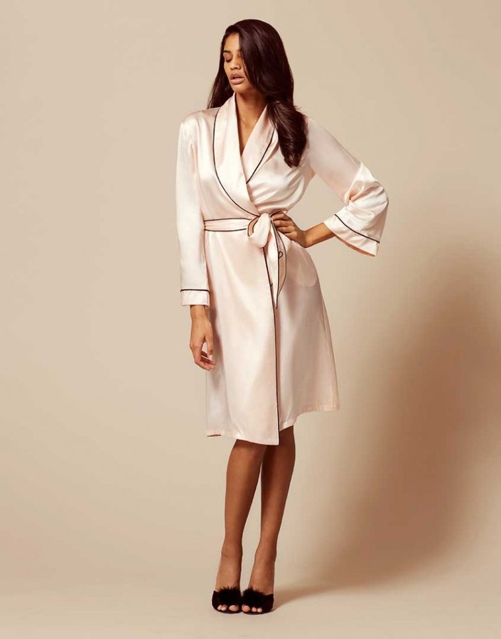 Agent Provocateur Classic Dressing Gown Pink