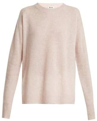 Acne Studios Shetland Wool Knit Sweater - Womens - Light Pink