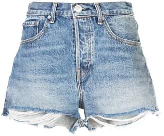 Rag & Bone Jean frayed edge denim shorts