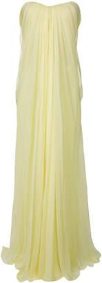 Alexander McQueen draped bustier evening dress