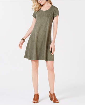 Style&Co. Style & Co Cotton T-Shirt Swing Dress