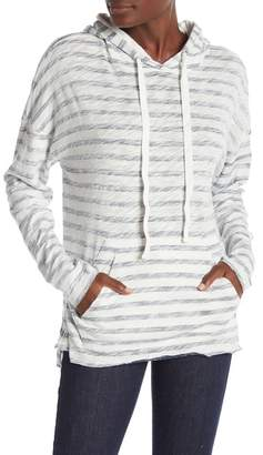 ATM Anthony Thomas Melillo Painted Stripe Long Sleeve Hoodie