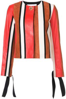 Derek Lam 10 Crosby Collarless Jacket With Tie Sleeves