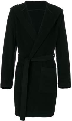 MSGM hooded robe coat