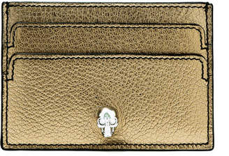 Alexander McQueen Embellished Metallic Textured-leather Cardholder