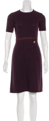 Louis Vuitton Wool Knit Knee-Length Dress