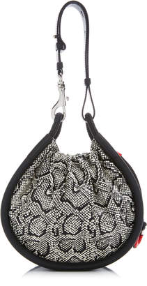 Proenza Schouler Canteen Snake-Effect Leather Top Handle Bag