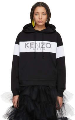 Kenzo Black Sport Logo Hoodie