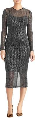Rachel Roy Collection Sequin Midi Dress