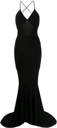 Norma Kamali fitted evening dress