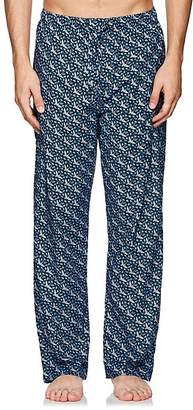 Derek Rose Men's Ledbury Cotton Poplin Pajama Pants
