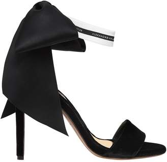Alexandre Vauthier 105mm Velvet Sandals W/ Bow