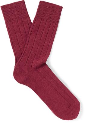 Falke Lhasa Ribbed-Knit Socks $34 thestylecure.com