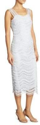 Lela Rose Guipure Wave Lace Sheath Dress