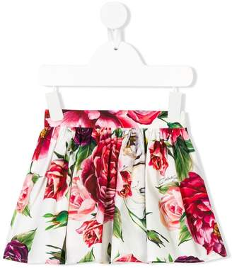 Dolce & Gabbana floral gathered skirt