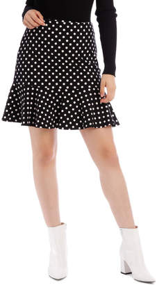 Miss Shop Spot Peplum Skirt
