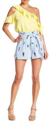 Do & Be Do + Be Cactus Patterned Stripe Shorts