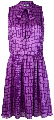 Moschino PRE-OWNED geometric pattern buttoned dress