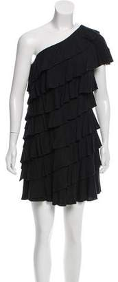 Robert Rodriguez Ruffled One-Shoulder Dress