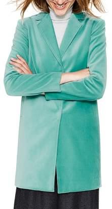 Boden Sally Long Velvet Jacket