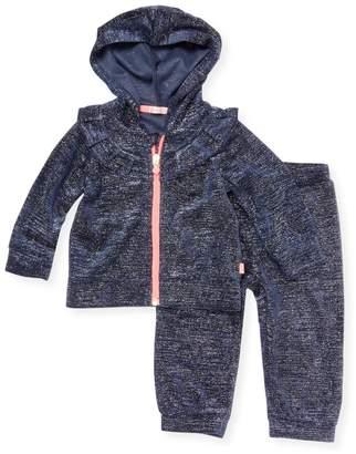 Billieblush Glittered Jacket & Pants Set