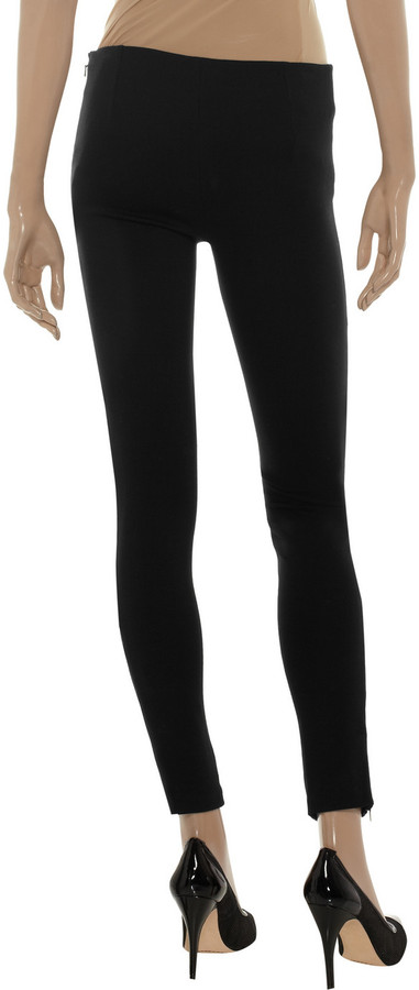 Catherine Malandrino Stretch-leather and ponte leggings