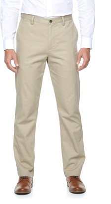 Croft & Barrow Men's Classic-Fit Essential Khaki Flat-Front Pants
