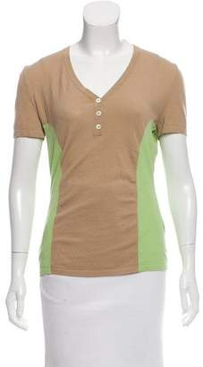 Malo Short Sleeve Colorblock Top w/ Tags