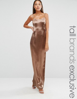 Missguided Tall Exclusive Silky Low Back Maxi $57 thestylecure.com