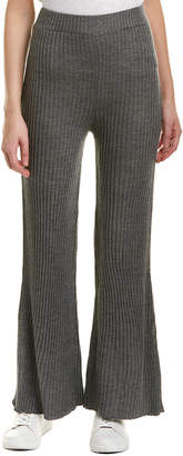 Moon River Ribbed Wool-Blend Pant