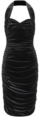Norma Kamali Bill stretch-velvet dress