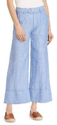 Lauren Ralph Lauren Petite Striped Linen Pants