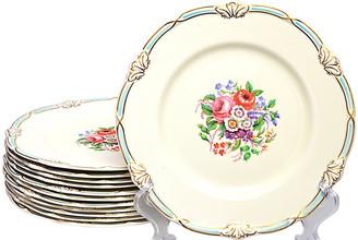 One Kings Lane Vintage Creamware English Plates - Set of 12 - Portfolio No.6