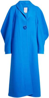 Roksanda Wool-Cashmere Coat with Oversized Sleeve